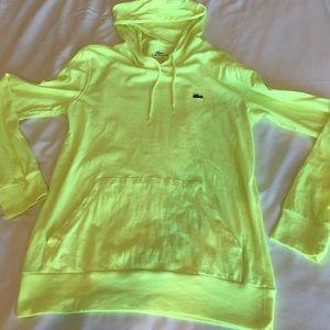 Lacoste Lightweight yellow sweatshirt